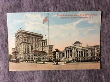 POSTCARD VANCOUVER HOTEL & FLAG VANCOUVER B.C. CANADA.  EARLY 1900s #L628
