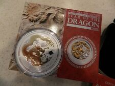 2012 Australian Lunar Dragon/ Gilded Year of the Dragon - Perth *Mint Condition*