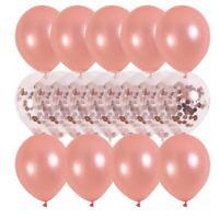 20Pcs Rose Gold Latex Confetti Balloon Set Wedding Supplies Birthday Party Decor