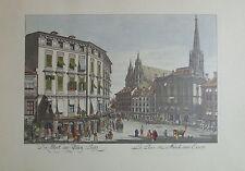 Carl Schütz DER STOCK AM EISEN PLATZ Wien Kunstblatt Reproduktion art print