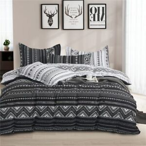 Fashion Simplicity Pattern Bedding Set Quilt Cover Pillowcase Home Textiles New