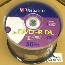 Verbatim 97693 DVD+R DL 8.5 GB 8X 50pk Spindle  XGD2 Compatible Printable 50Pk