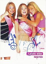 ATOMIC KITTEN - SIGNED IN PERSON 3 AUTOGRAMME AUTOGRAPHS 21 x 29,5 CM - SELTEN