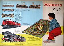 MäRKLIN 1959 Prospekt Flugblatt Freude am Spiel H0 /Train Flyer Germany Marklin