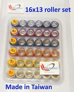 fits Malossi variator 16x13 roller, Variator Roller pack 16x13 3g ~ 8g US NJ