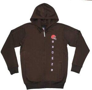 G-III Sports Cleveland Browns Men's Snap Fleece Full Zip Hoody Sweatshirt