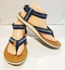 Teva Ombre Womens Sz 9 US Sport Blue Ankle Strap Flip Flops Sandals