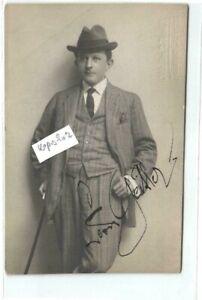 Leon Geitler   alte Fotokarte mit  Unterschrift