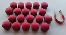 17mm MID RED Wheel Nut Covers with removal tool fits ALFA ROMEO