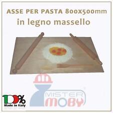 ASSE DA PASTA LEGNO MASSELLO TAVOLO SPIANATOIA STENDIPASTA 80X50X2 MADE IN ITALY