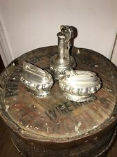 Antique Ronson Decanter And Crown Lighters 1930's Lot of 3