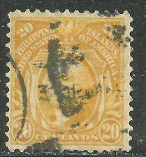 U.S. Possession Philippines stamp scott 268 - 20 cent Washington 1911 issue #3