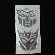 New 3D Funny Silver Transformers Optimus Prime Decepticon  Autobot Car Sticker