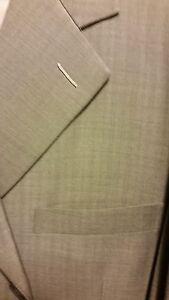 Men's custom made suit, gray