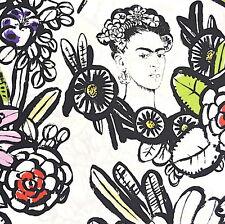 1m Kaktusblüte Natürlich Alexander Henry Stoff pro Meter Kahlo Mexiko Kunst