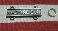 US ARMY MACHINE GUN BAR BADGE QUALIFICATION BADGE W/ 2 RINGS HM IIC GI VIET ERA