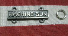 Army Machine Gun Bar Badge Qualification Badge W/ 2 Rings Hm Iic Gi Vietnam Era