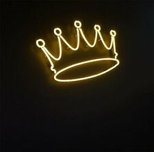 "New Crown Yellow Bar Pub Wall Decor Acrylic Neon Light Sign 14"""