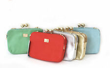 Markenlose unifarbene Damentaschen aus Kunstleder mit Handytasche