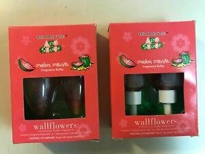New- 2x Bath & Body Works ART STUFF Melon Mania Wallflowers Home Fragrance Bulbs