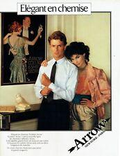 Publicité Advertising 079  1981  Arrow  chemise homme Golden