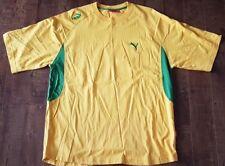 PUMA Short Sleeved Sport T-Shirt Jersey Rich Yellow/ Green Men Sz XXXL/ 3XL