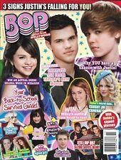 Bop magazine Justin Bieber Selena Gomez Taylor Swift Lady Gaga Demi Lovato