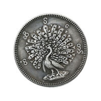 24mm Magic Coin Myanmar Peacock Pattern Coin Collection Necklace Pendant