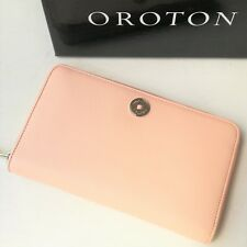 RRP$295 NEW OROTON Wallet Multi Zip Around Large Clutch Purse PL Pink Leather