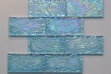 """$1.25/piece Sea Blue 3""""x6"""" Glass Mosaic Tile - SPECIAL PRICE"""