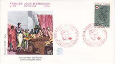 Enveloppe 1er jour FDC n°819-820 - 1972 Croix Rouge Médecins militaires Napoléon