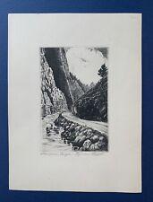 Lyman Byxbe (1886-1980) Original Signed Etching, Thompson Canyon