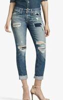 Lucky Brand Sienna Slim Boyfriend Distressed Jeans Womens Size 24