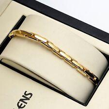 "Men's Bracelet Fashion 18K Yellow Gold Filled 8.5"" Charms Chain Unique Link Hot"