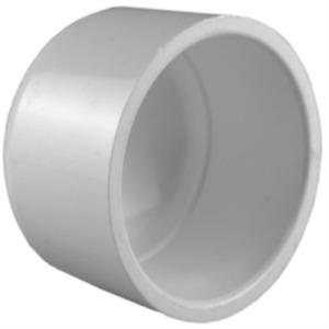 Charlotte Pipe Socket Cap Fitting 8 Inch PVC Schedule 40 Irrigation Water Parts