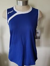 Blue Ladies Sports Athletic Court Top Juniors L NWT By Asics