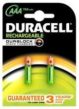 batteries mini mignon AA Duracell rechargeable mAh 750 pile
