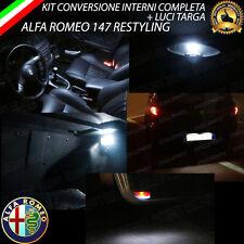 KIT LED INTERNI ALFA ROMEO 147 RESTYLING CONVERSIONE COMPLETA + LED TARGA CANBUS