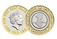 RARE Mint Jane Austen 2 Two Pound Brilliant UNCIRCULATED Coin 2017 in CAPSULE