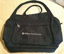 Holland American Line Carry on luggage rolling. Navy Blue