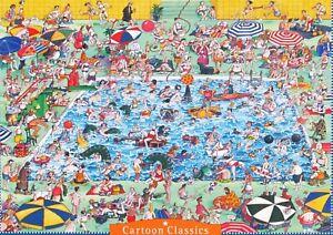 Heye Roger Blachon Cool Down 1000 pc Jigsaw Puzzle Humor Swimming Pool
