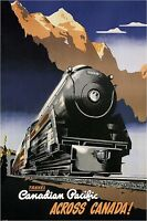 CANADIAN PACIFIC RAILROAD Vintage Travel Poster CANVAS PRINT 24x32 in.