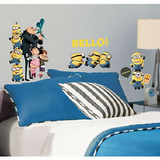 DESPICABLE ME 2 wall stickers 31 decals room decor MINIONS Agnus Margo Edith +