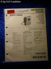 Sony Service Manual TMC 20DV /21DV /22DV /23DV Cassette Corder (#4092)