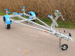 Bootstrailer Neptun Boot Anhänger 10-18 Fuß Kielrolle Windenstand Bootsanhänger