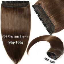 Invisible Clip In Real Remy Human Hair Extensions 3/4Full Head One Piece Weft US