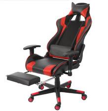 Racing Chaise de Gamer Ergonomique Fauteuil de Bureau Gaming avec Repose-Pied
