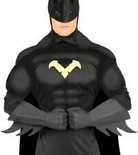 Adulto Negro Piel Sintética Superhéroe Comic Disfraz Guantes