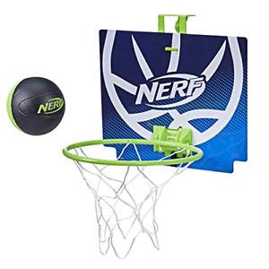 NERF Nerfoop -- The Classic Mini Foam Basketball and Hoop -- Hooks On Doors -- A
