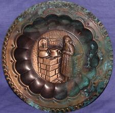 Vintage Italian Ricordo D'Abruzzo copper figural wall decor plate